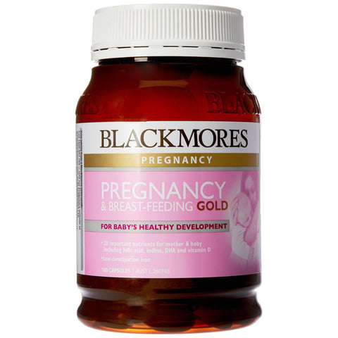 Image of Blackmores Pregnancy & Breast-Feeding Gold (180 Capsules)-Curavita