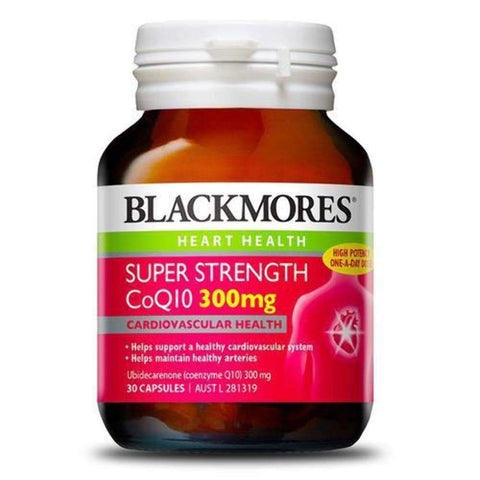 Image of Blackmores Super Strength CoQ10 300mg (30 Tablets)-Curavita