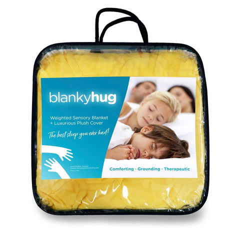 BlankyHug Cooling Weighted Blanket with Luxurious Ultra-Soft Quilted Cover