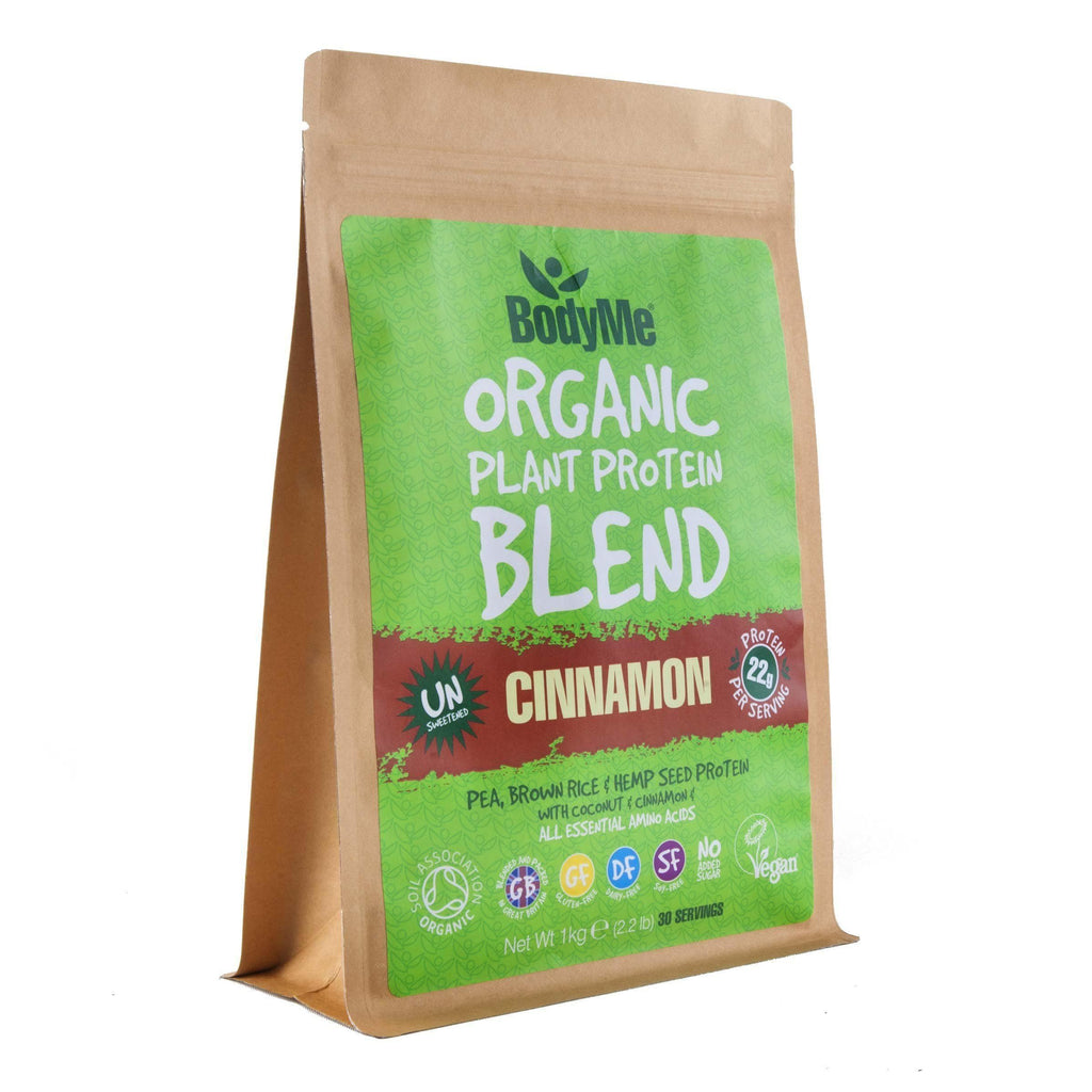 BodyMe Organic Vegan Protein Powder Blend - Raw Cinnamon 1kg-Curavita