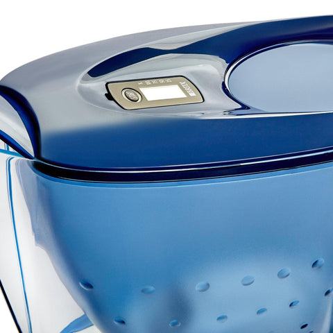 Image of BRITA Blue 2.4L Water Filter Jug - Marella with: in-Built LED Electronic Indicator & MAXTRA+ Filter Cartridge-Curavita