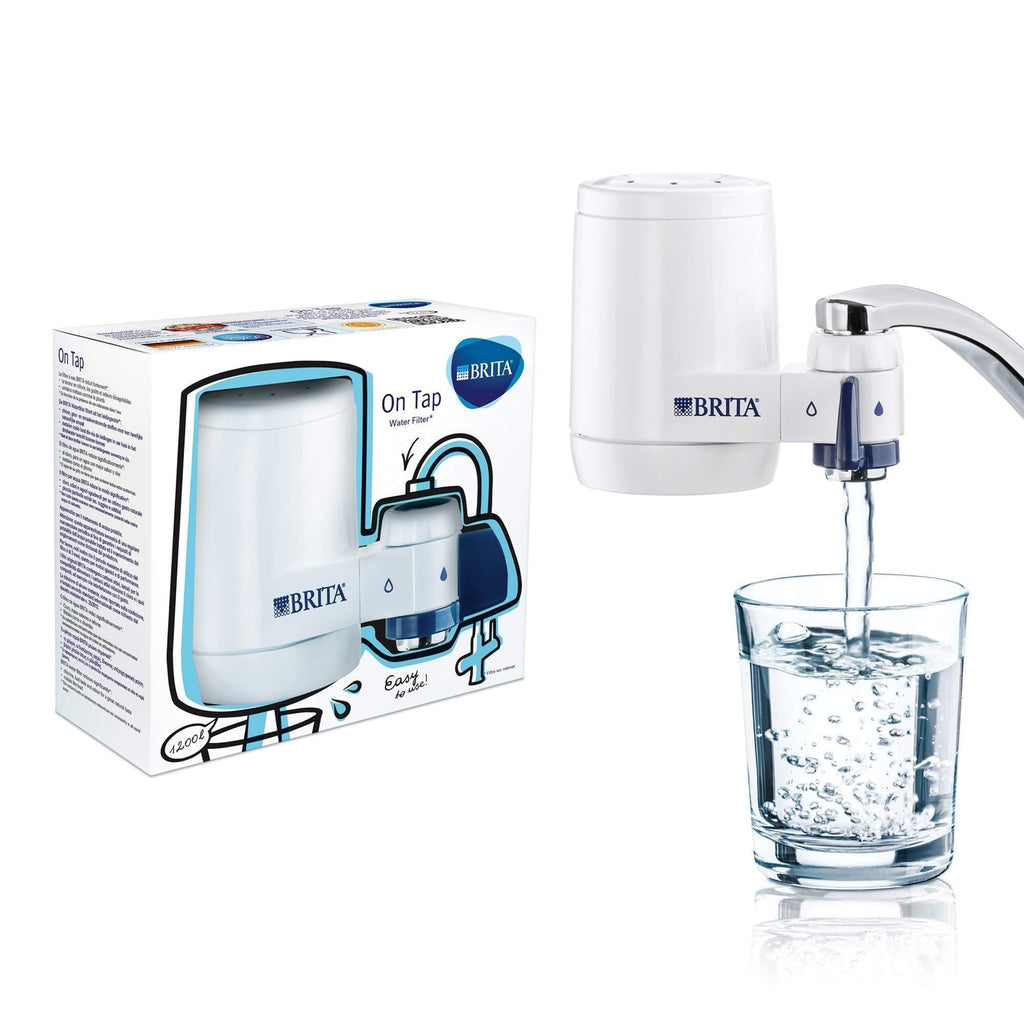 Brita On Tap Water Filtration Filter System Home Office Kitchen Taps Easy to Install - 1,200L-Curavita