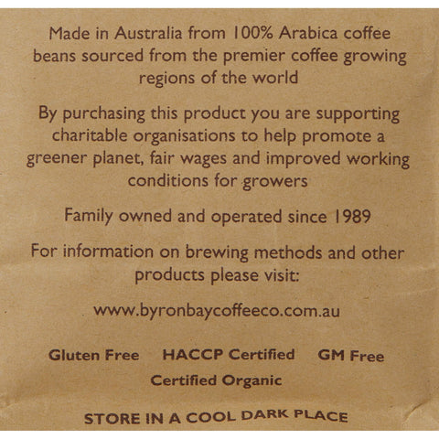 Image of Byron Bay Coffee Company Certified Organic Coffee