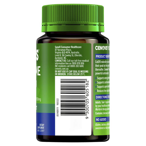 Image of Cenovis Co-Enzyme Q10 150mg - A powerful antioxidant - Supports energy levels - Supports heart health-Curavita
