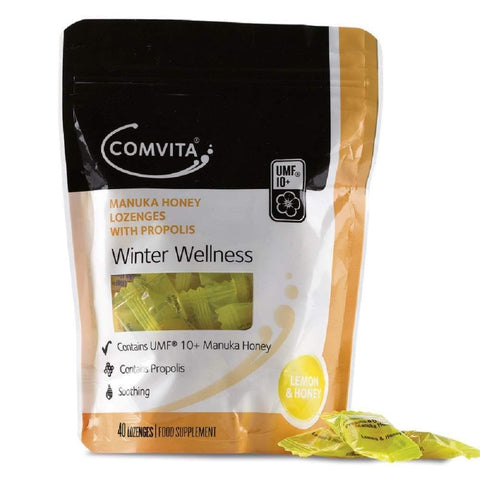 Comvita Lemon and Manuka Honey Lozenges with Propolis Candy,  40 Pieces