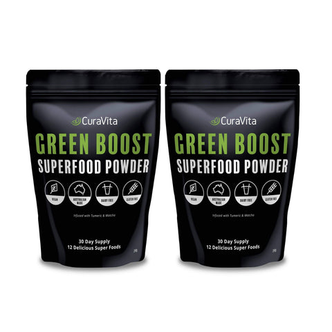 Image of Curavita Super Green Powder 2 Pack