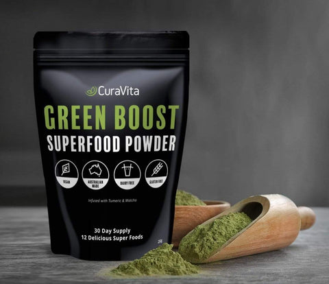 Curavita Organic Super Greens Powder - Raw Green Juice - 12 Delicious Ingredients-Curavita