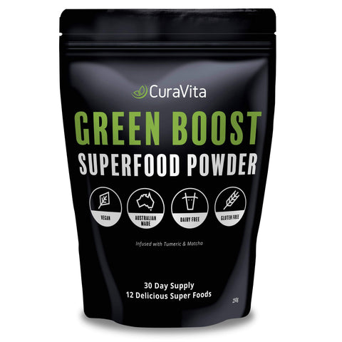 Image of Curavita green boost super green pouch
