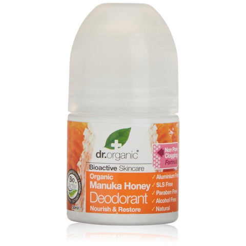 DR ORGANIC Roll-on Deodorant Organic Manuka Honey, 50 Milliliter-Curavita