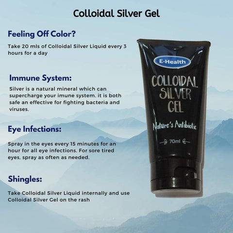 Image of E-health Colloidal Silver Gel for Skin – 10 PPM-Curavita