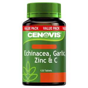 Echinacea, Garlic, Zinc & C - Reduces Common Cold Symptoms - Antioxidant