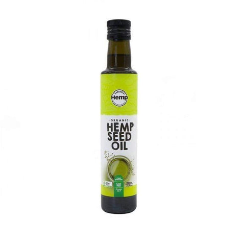 hemp seed oil in bottle