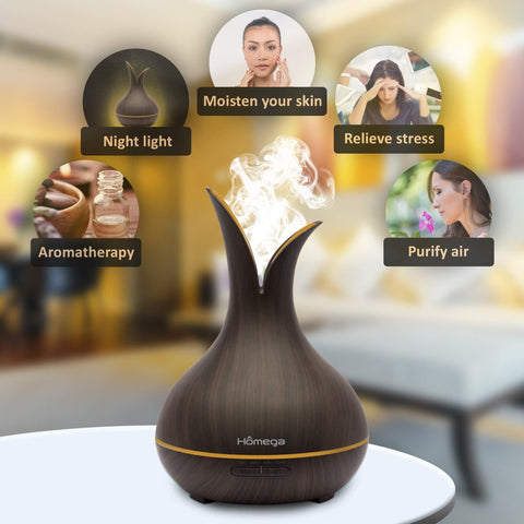 Essential Ultrasonic Oil Diffuser By Homega - 400 ml-Curavita