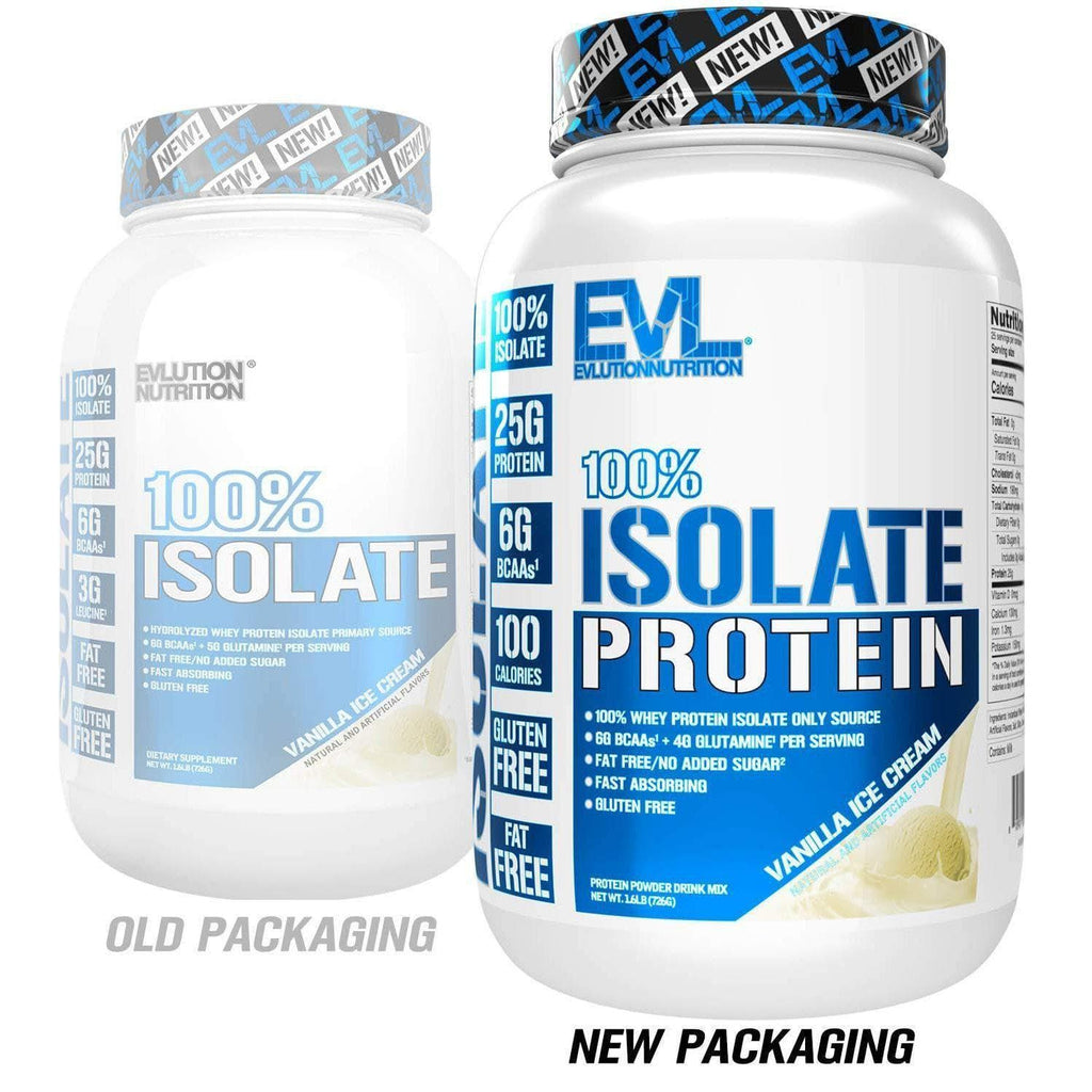 Evlution Nutrition 100% Isolate, Hydrolyzed Whey Isolate Protein Powder - 725 gms-Curavita