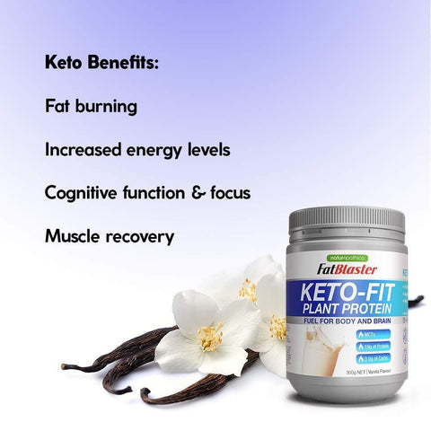 Image of Fat Blaster Keto-Fit Vanilla Flavoured Protein 300g-Curavita