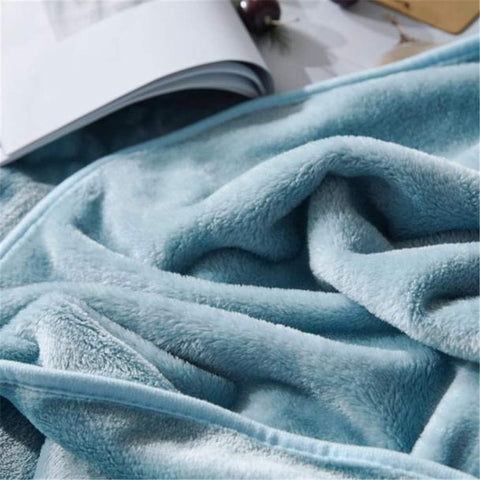 Flannel Fleece Luxury Blanket Throw Lightweight Cozy Plush Microfiber Solid Blanket