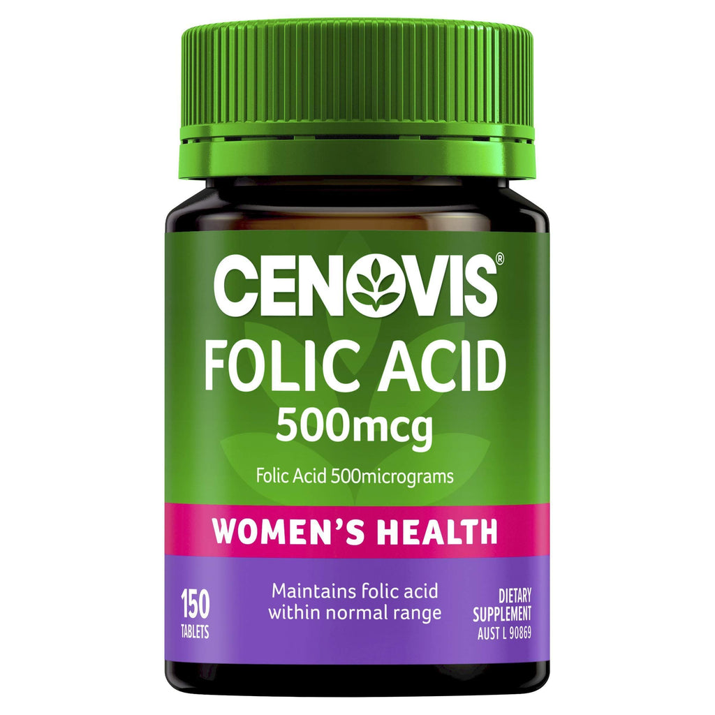 Folic Acid 500mcg - Supports Healthy Foetal Development