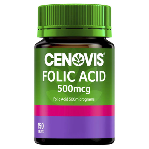Image of Folic Acid 500mcg - Supports Healthy Foetal Development