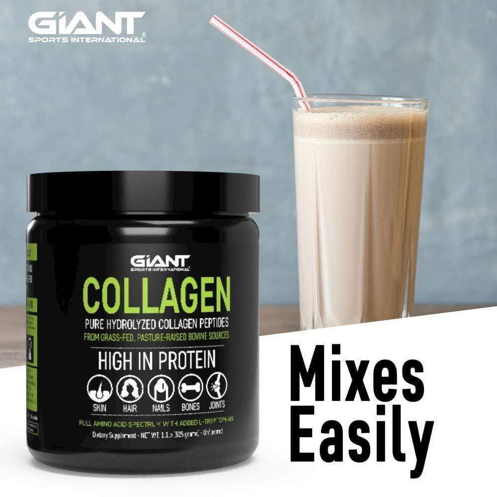 Giant Sports Complete Pure Collagen Peptides with Added L-Tryptophan-Curavita