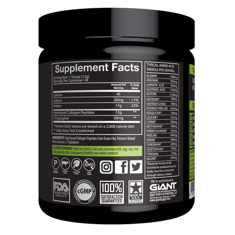 Image of Giant Sports Complete Pure Collagen Peptides with Added L-Tryptophan-Curavita