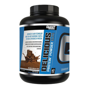 Giant Sports Delicious Elite Protein Powder, Chocolate, 5lbs-Curavita