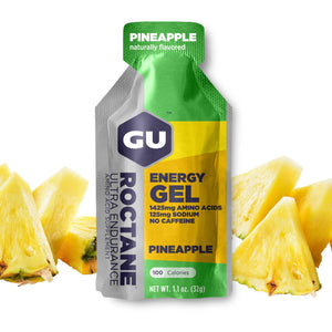 GU Energy Roctane Ultra Endurance Energy Gel, Pineapple, 24-Count
