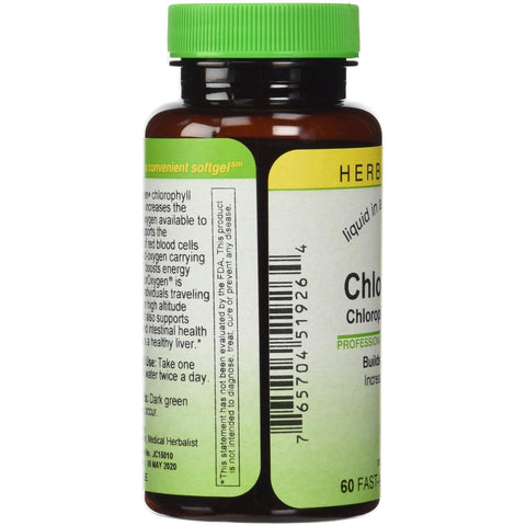 Image of Herbs Etc ChlorOxygen Chlorophyll Concentrate 60 Fast-Acting Softgels-Curavita