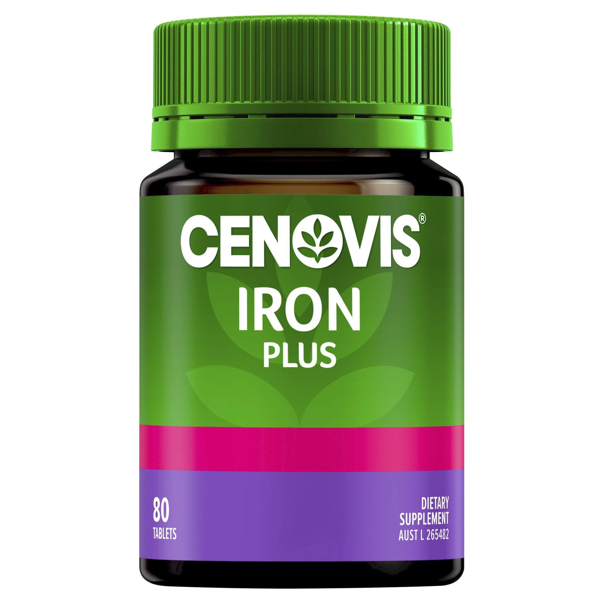 Iron Plus - Iron Tablets - Assists iron absorption - Supports energy levels - Relieves fatigue