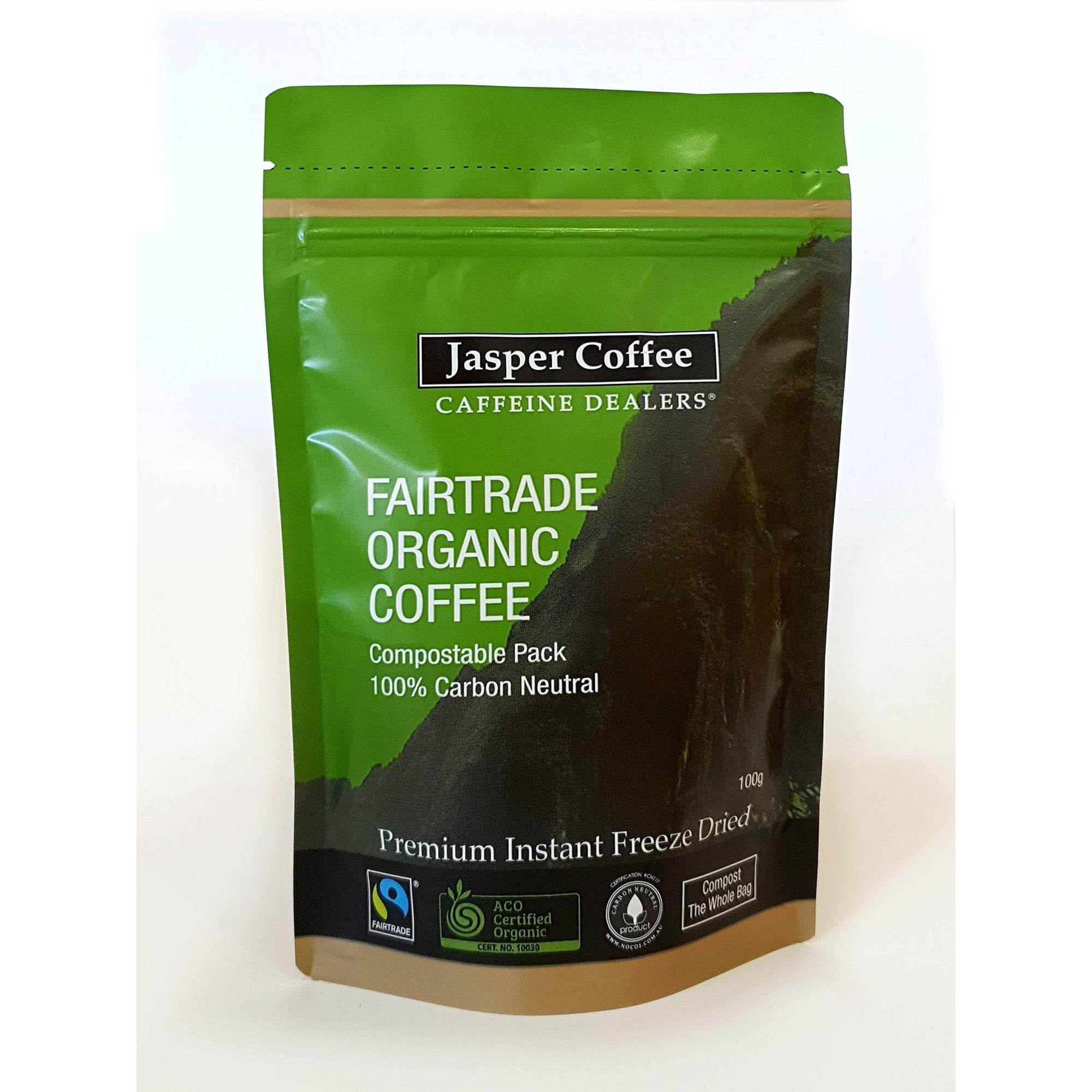 JASPER COFFEE Jasper Fairtrade Organic Freeze Dried Instant Coffee