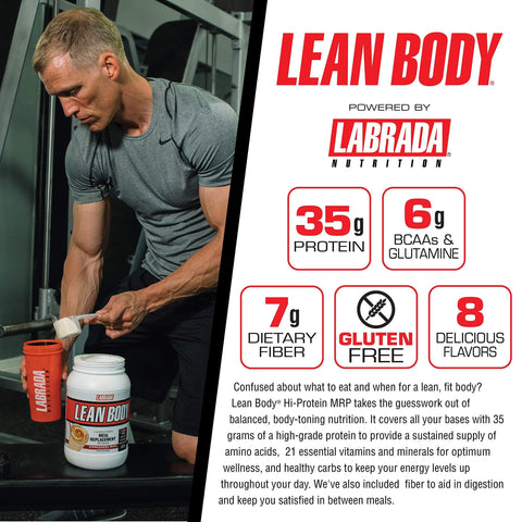 Labrada Nutrition Lean Body Hi Protein Meal Replacement Shake, Chocolate, 1.12 Kg-Curavita