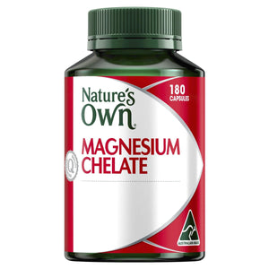 Magnesium Chelate 500mg - Supports Nerve & Muscle Function - Promotes Healthy Heart & Bones-Curavita
