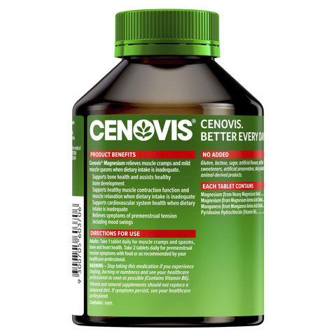 Image of Magnesium Tablets For Bone Health - Cenovis