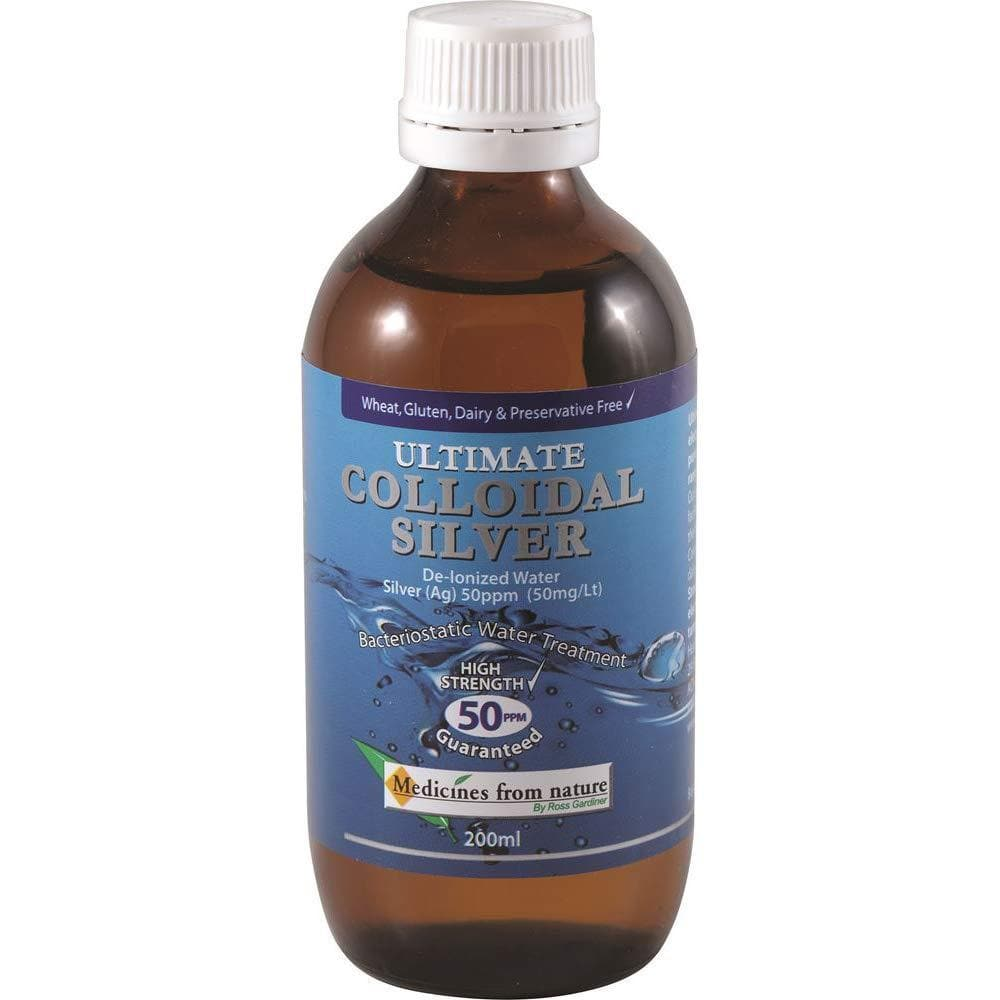 Medicines from Nature Ultimate 50 ppm Colloidal Silver 200 ml, 200 milliliters-Curavita