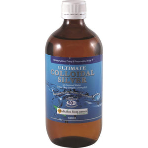 Medicines from Nature Ultimate 50 ppm Colloidal Silver 500 ml, 500 milliliters-Curavita