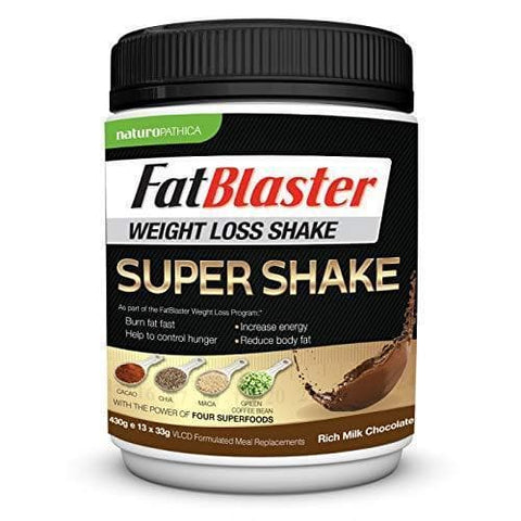 Milk Chocolate Meal Replacement Shake By Naturopathica Fat Blaster-Curavita