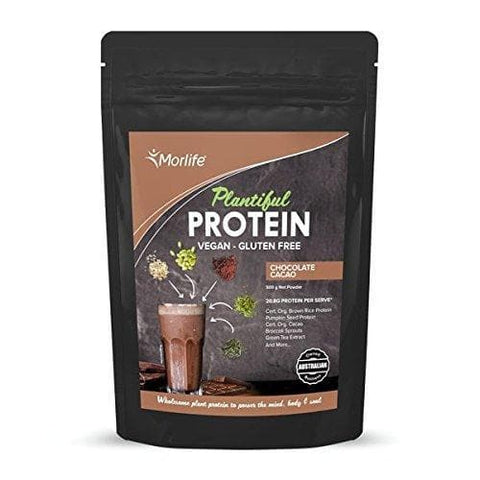 Morlife Plantiful Protein 500g - Cacao flavour, Functional Herbs & Greens-Curavita