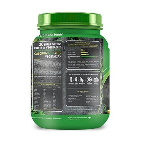 Morlife Super Greens - Pineapple Coconut 1kg | Alkalizing Vegan Green Powder-Curavita