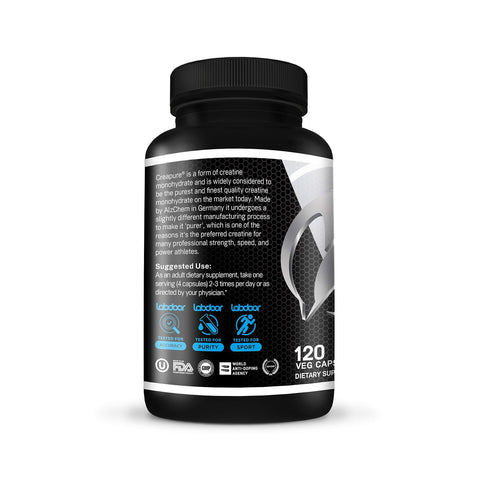 Image of Muscle Feast Creapure Creatine Monohydrate Capsules - Post-Workout (750Mg, 120 Capsules)-Curavita