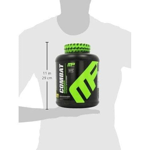 Image of MusclePharm Combat Protein Powder - BCAA's and Glutamine for Recovery, Banana Cream,-Curavita