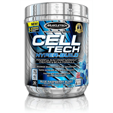 Image of MuscleTech Cell Tech Hyperbuild, 5 in 1 Post Workout Creatine Powder and BCAA Aminos-Curavita