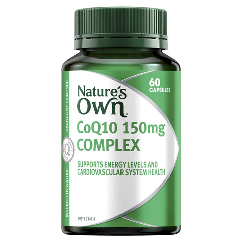 Image of Nature's Own CoQ10 150mg Complex - Source of Resveratrol-Curavita
