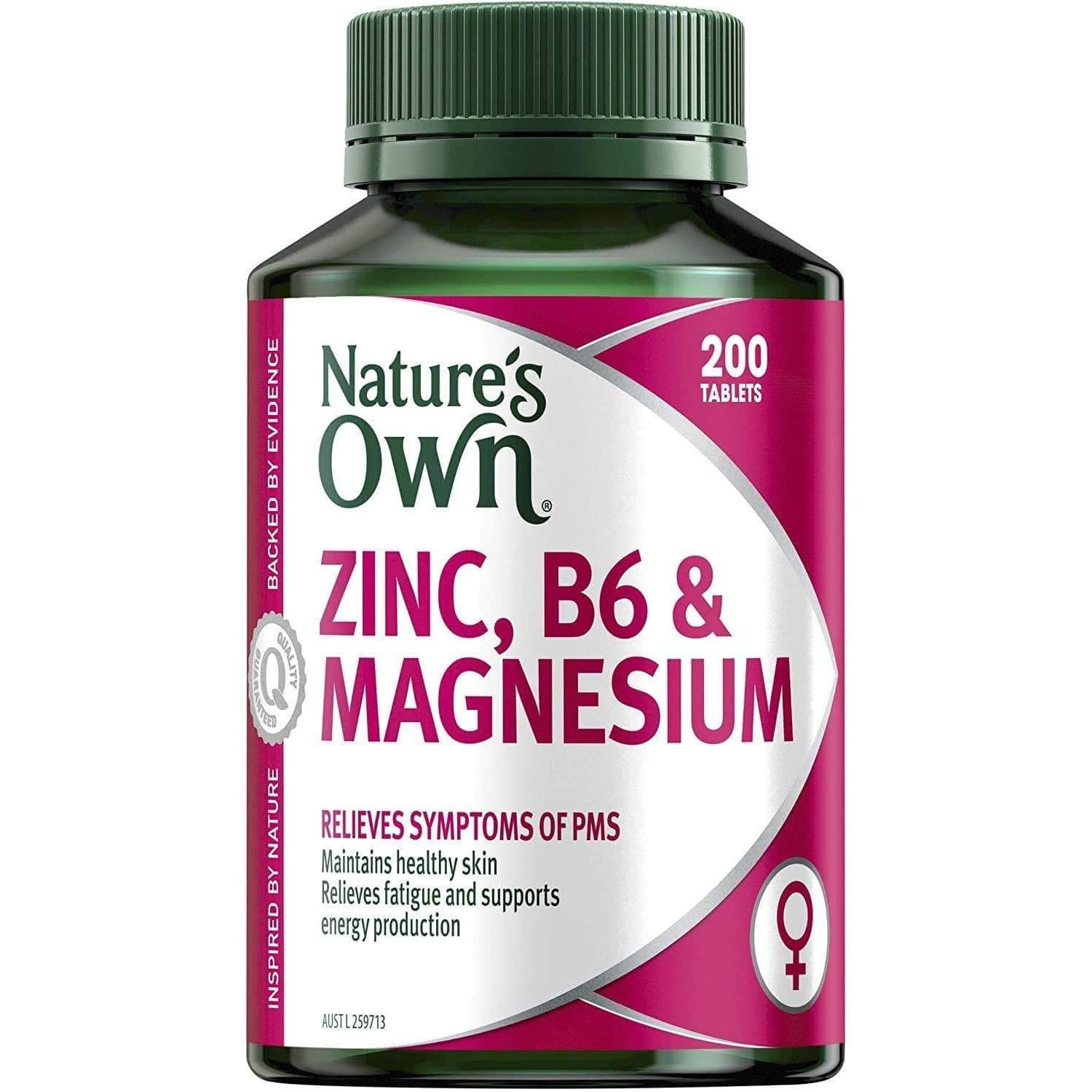 Nature's Own Zinc Supplement - Vitamin B6 & Magnesium 200 Tablets-Curavita