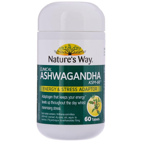 Nature's Way Ashwagandha tablets, 0.08 Kilograms