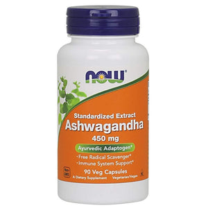 NOW Ashwagandha Extract 450 mg,90 Veg Capsules