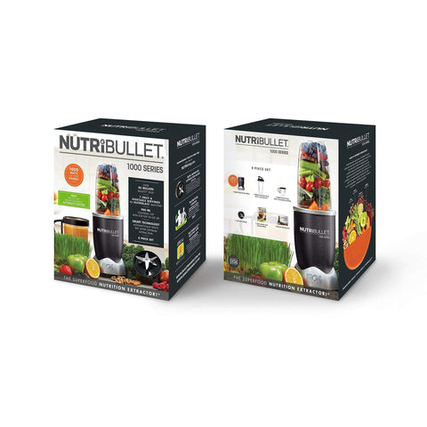 Image of NutriBullet 1000w Series Blender 8 Piece Set, Grey-Curavita