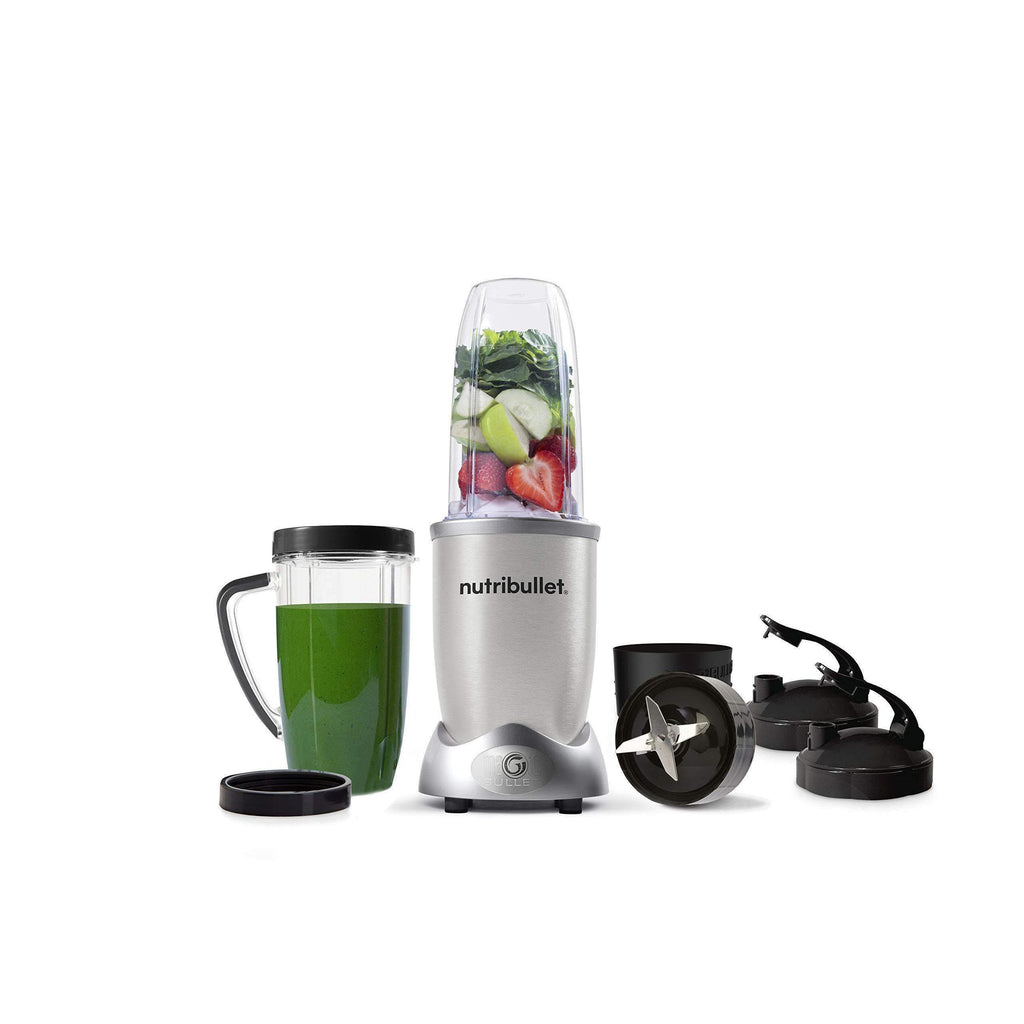 NutriBullet 1200w Series Blender 10 Piece Set, Silver-Curavita