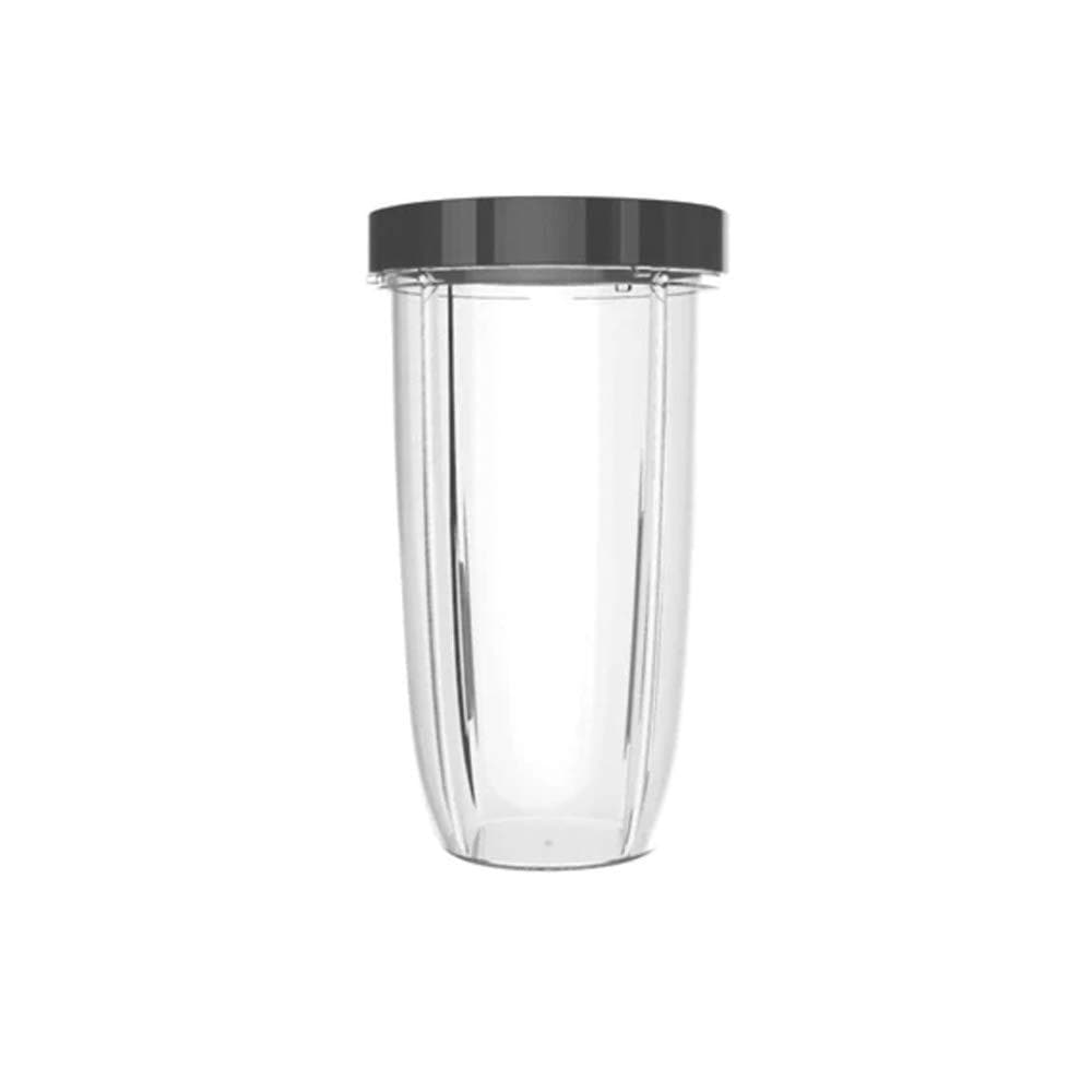 NutriBullet NBM-U0271 32 Ounce Colossal Cup with Standard Lip Ring, 32 Oz, Clear/Gray-Curavita