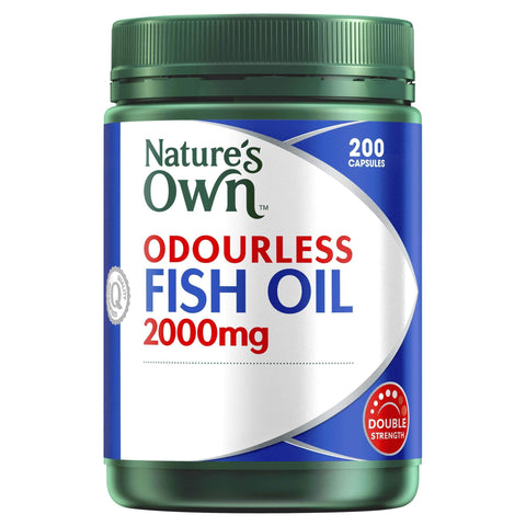 Odourless Fish Oil 2000mg - Source of Omega-3 - Maintains Wellbeing - Supports Healthy Heart & Brain-Curavita