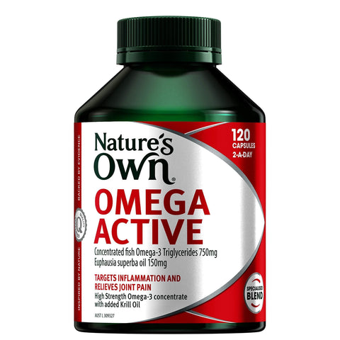 Omega Active - Supports Healthy Joints - Maintains Wellbeing and Healthy Heart & Brain-Curavita