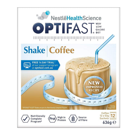 Optifast Shake Coffee 53g x 12 Sachets-Optifast-Curavita